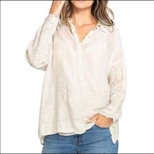 NWT Johnny Was Lace Ivory/Cream Top - M